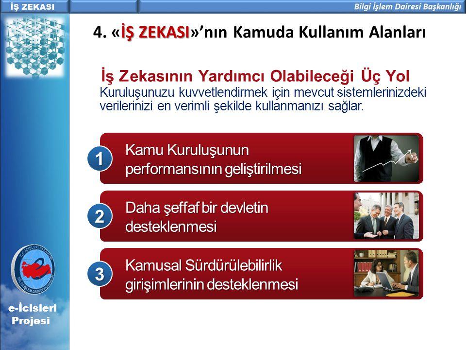 4. «İŞ ZEKASI»'nın Kamuda Kullanım Alanları