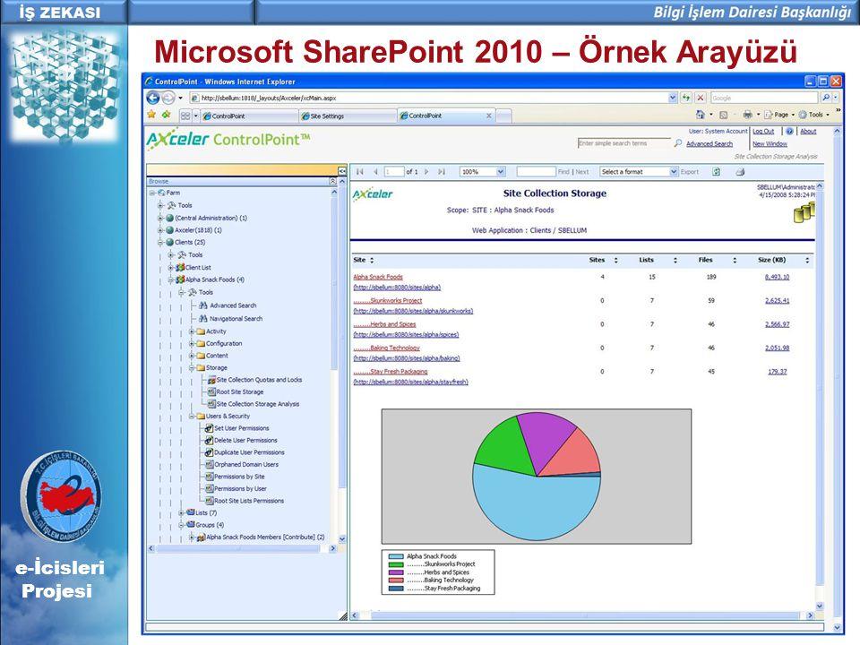 Microsoft SharePoint 2010 – Örnek Arayüzü