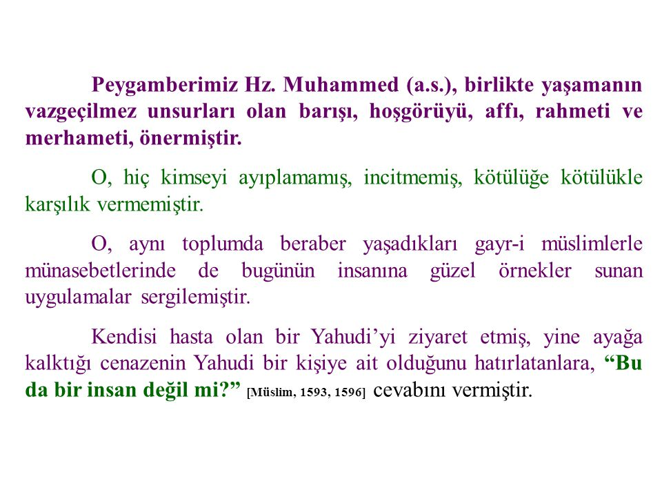 Peygamberimiz Hz. Muhammed (a. s
