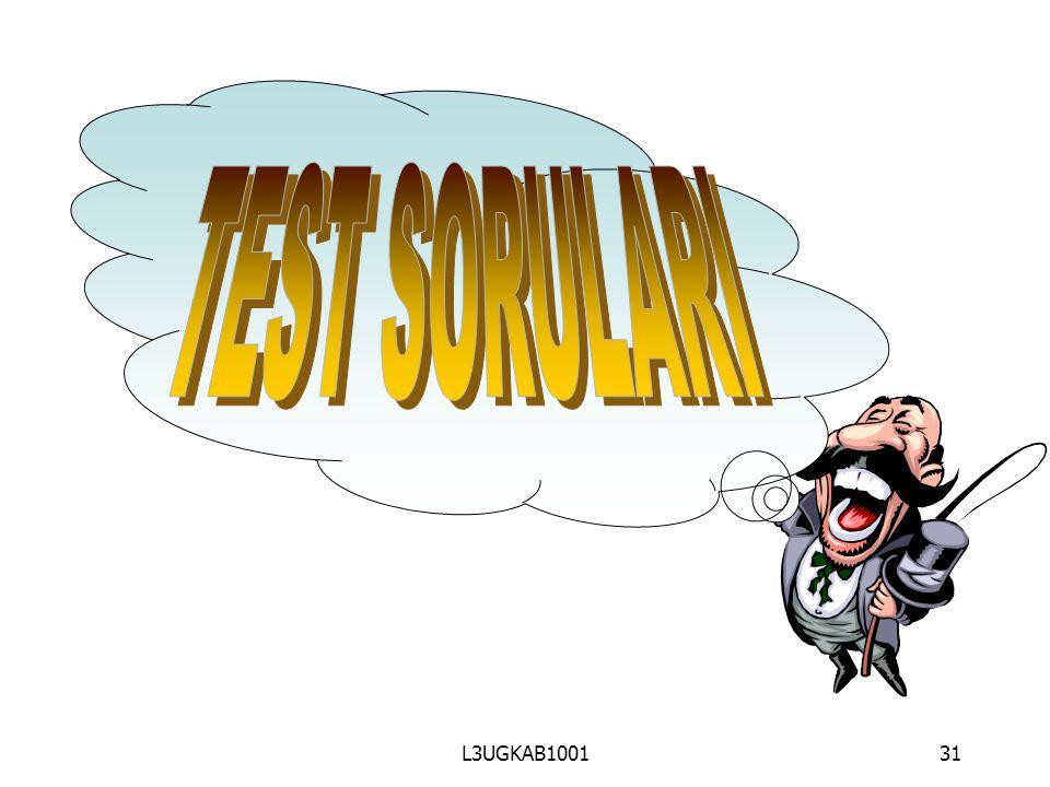 TEST SORULARI L3UGKAB1001 31 31