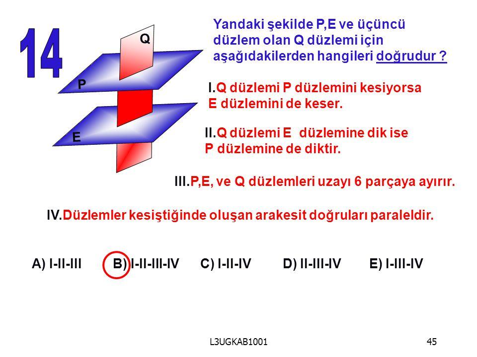 14 Yandaki şekilde P,E ve üçüncü