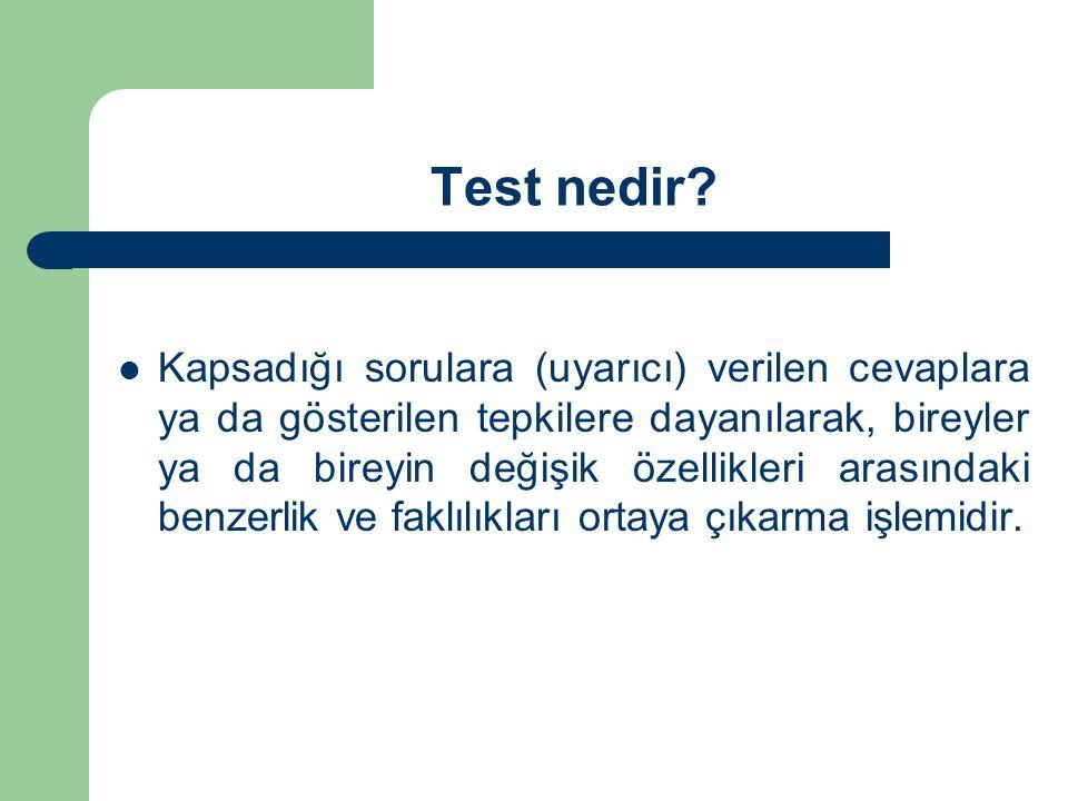 Test nedir