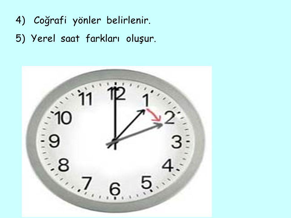 4) Coğrafi yönler belirlenir.