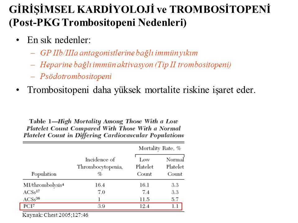 GİRİŞİMSEL KARDİYOLOJİ ve TROMBOSİTOPENİ (Post-PKG Trombositopeni Nedenleri)