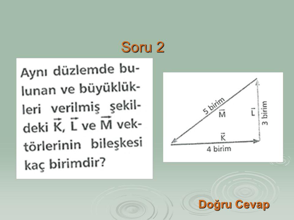 Soru 2 Doğru Cevap