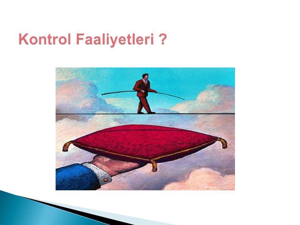 Kontrol Faaliyetleri