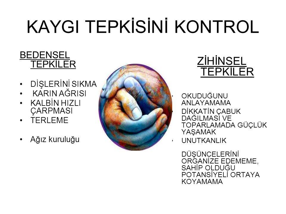 KAYGI TEPKİSİNİ KONTROL