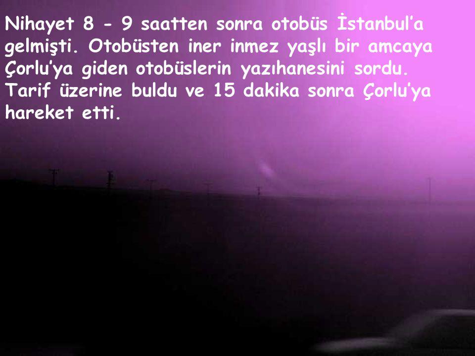 Nihayet 8 - 9 saatten sonra otobüs İstanbul'a gelmişti