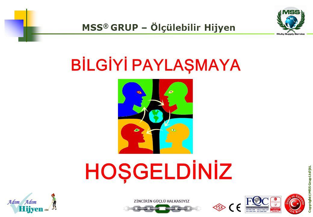 MSS® GRUP – Ölçülebilir Hijyen Copyright©MSS Grup Ltd Şti.