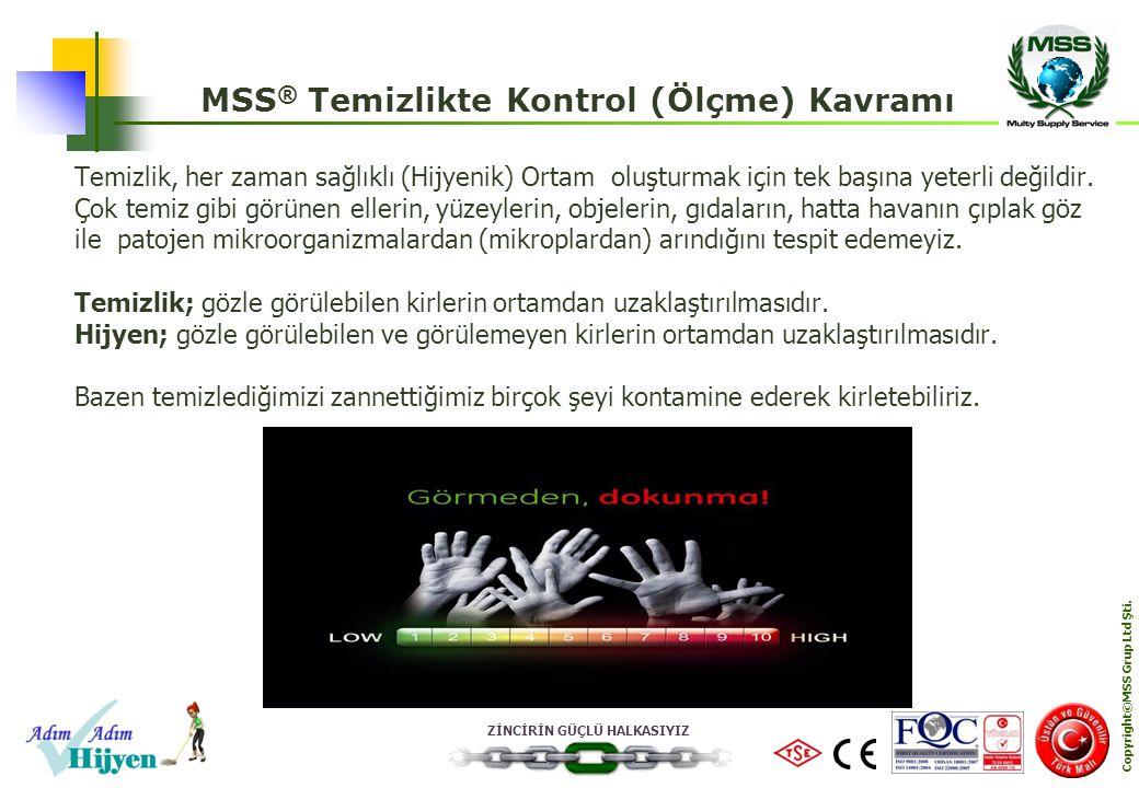 MSS® Temizlikte Kontrol (Ölçme) Kavramı Copyright©MSS Grup Ltd Şti.