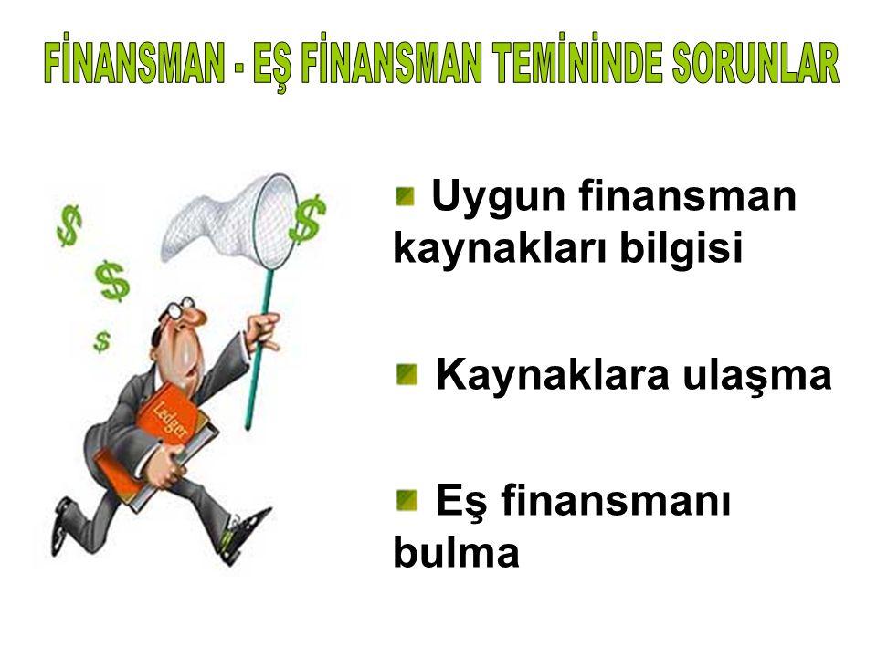 FİNANSMAN - EŞ FİNANSMAN TEMİNİNDE SORUNLAR