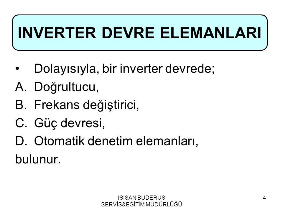 INVERTER DEVRE ELEMANLARI