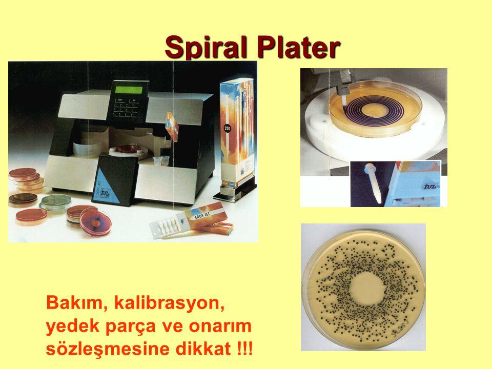 Spiral Plater Bakım, kalibrasyon, yedek parça ve onarım