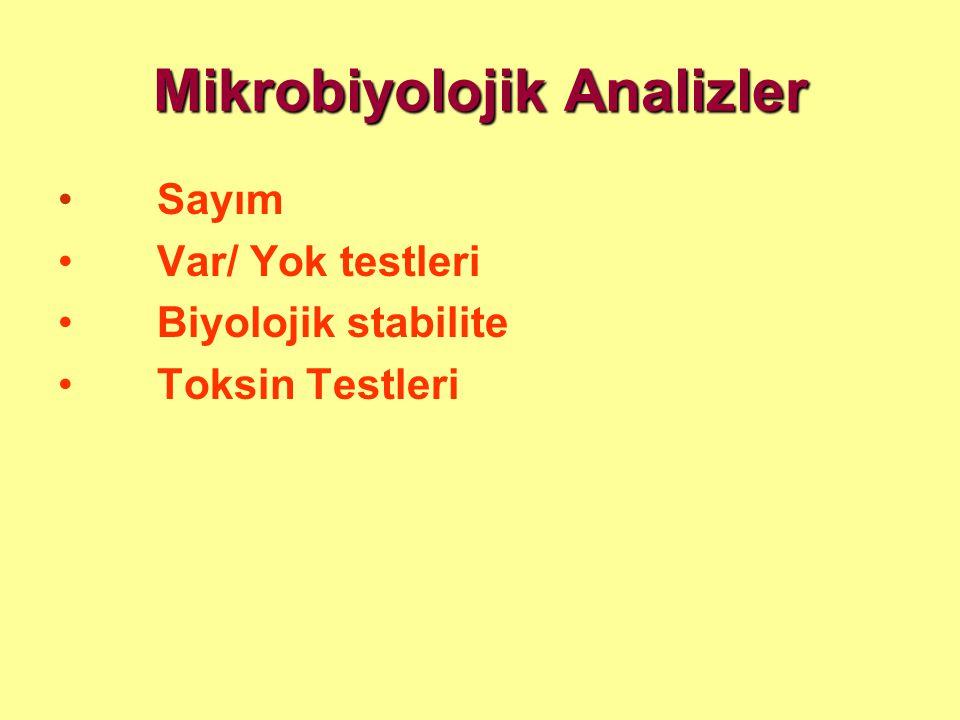 Mikrobiyolojik Analizler