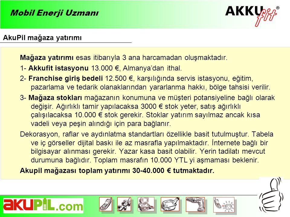 Mobil Enerji Uzmanı AkuPil mağaza yatırımı