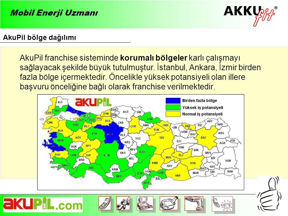 Mobil Enerji Uzmanı AkuPil bölge dağılımı.