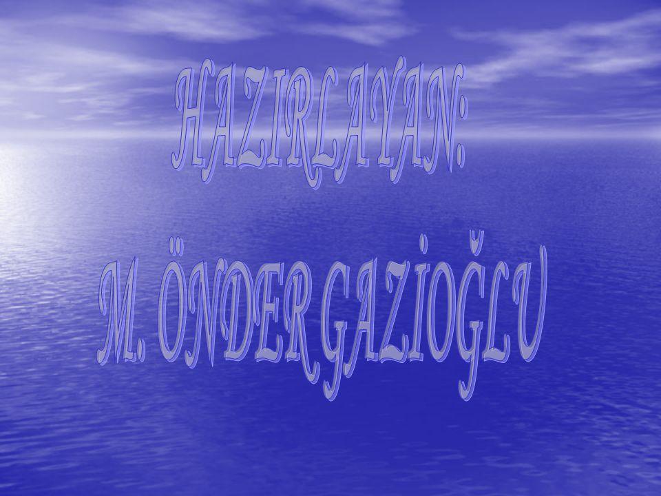 HAZIRLAYAN: M. ÖNDER GAZİOĞLU