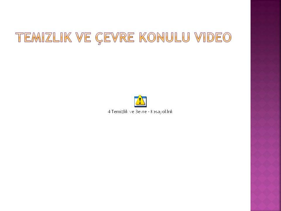 Temizlik ve Çevre konulu video