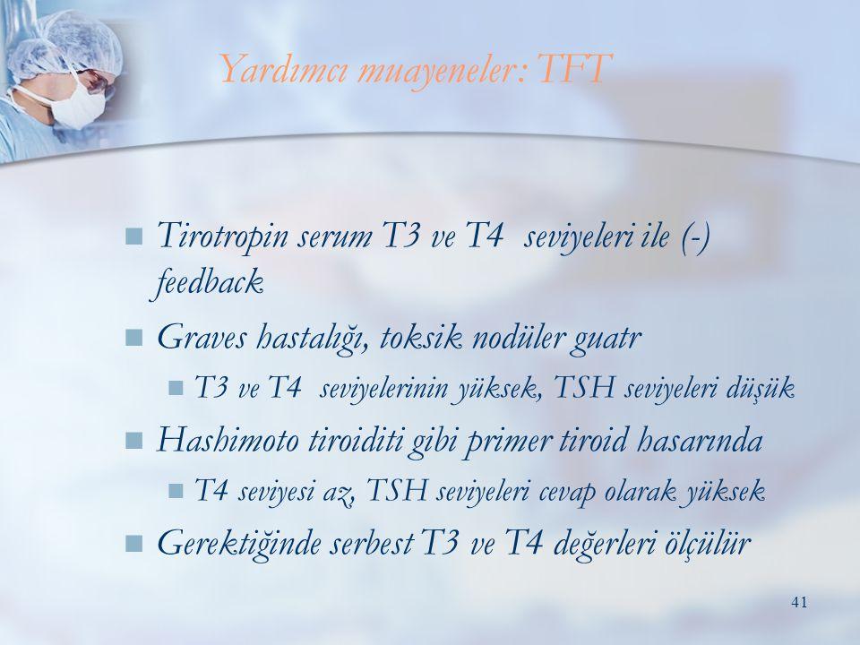 Yardımcı muayeneler: TFT