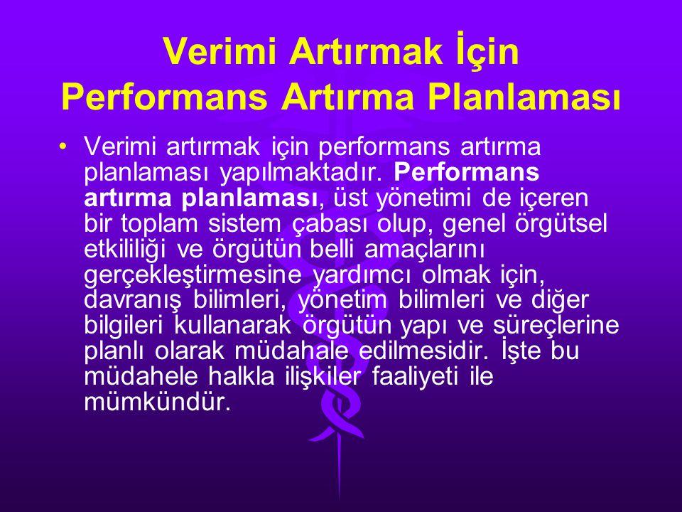 Verimi Artırmak İçin Performans Artırma Planlaması
