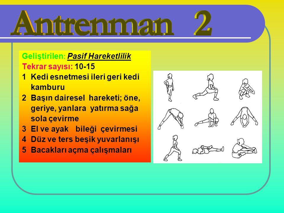 ANTRENMAN-2 Geliştirilen: Pasif Hareketlilik Tekrar sayısı: 10-15