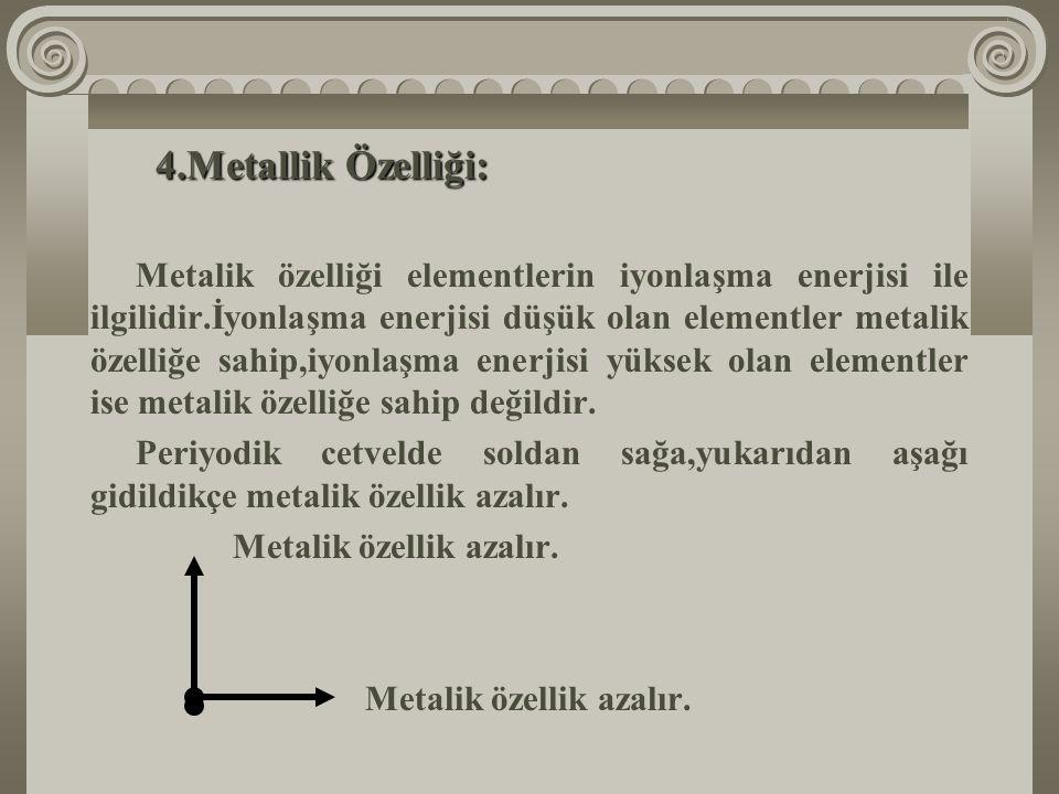Metallik Özelliği: