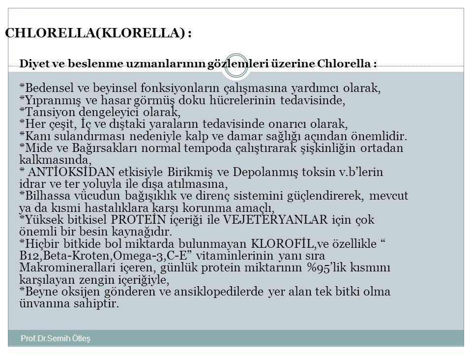CHLORELLA(KLORELLA) :
