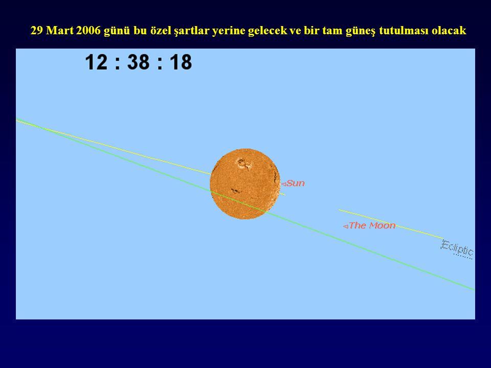 29 Mart 2006 günü bu özel şartlar yerine gelecek ve bir tam güneş tutulması olacak