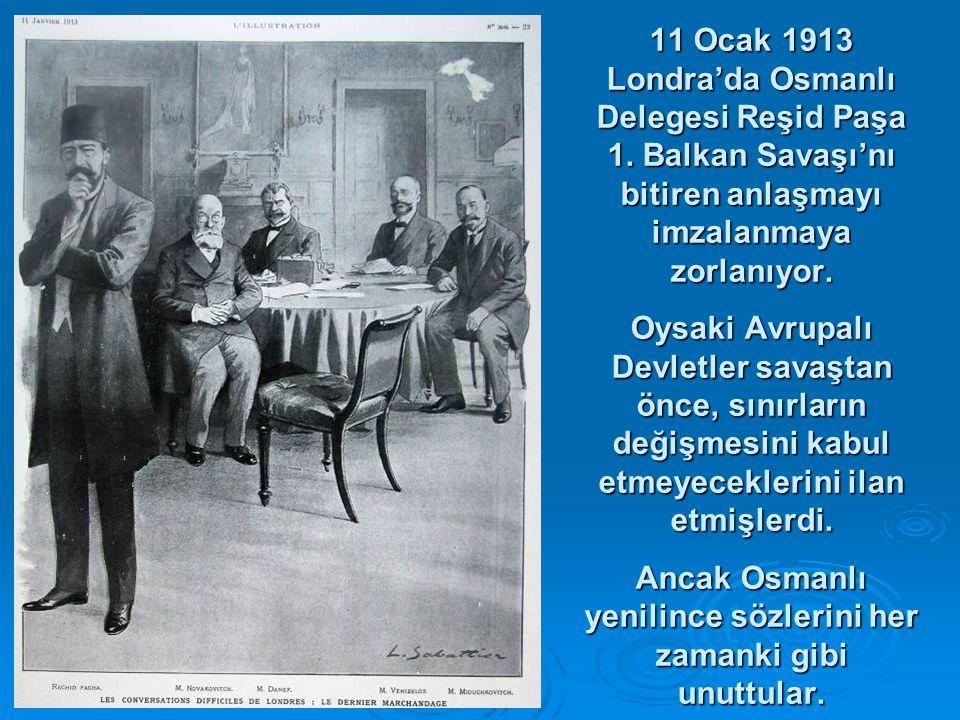 11 Ocak 1913 Londra'da Osmanlı Delegesi Reşid Paşa 1