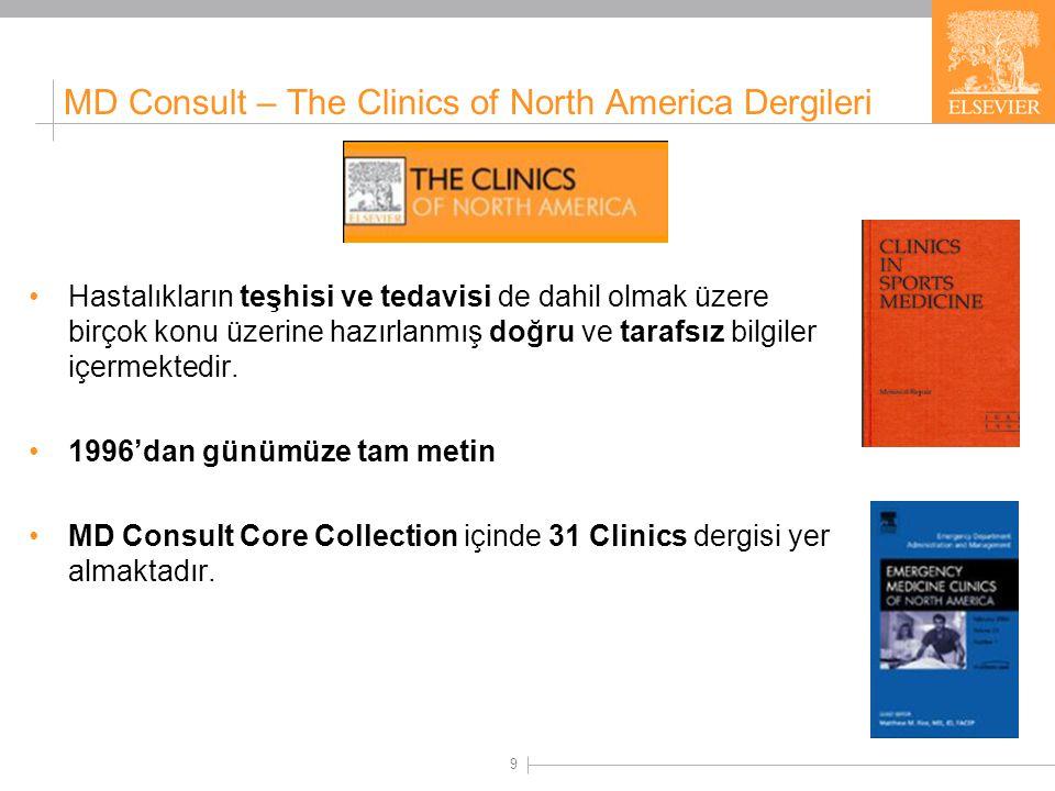 The Clinics of North America Koleksiyonları