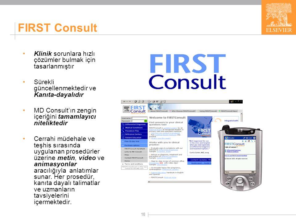 FIRST Consult'ın İçeriği