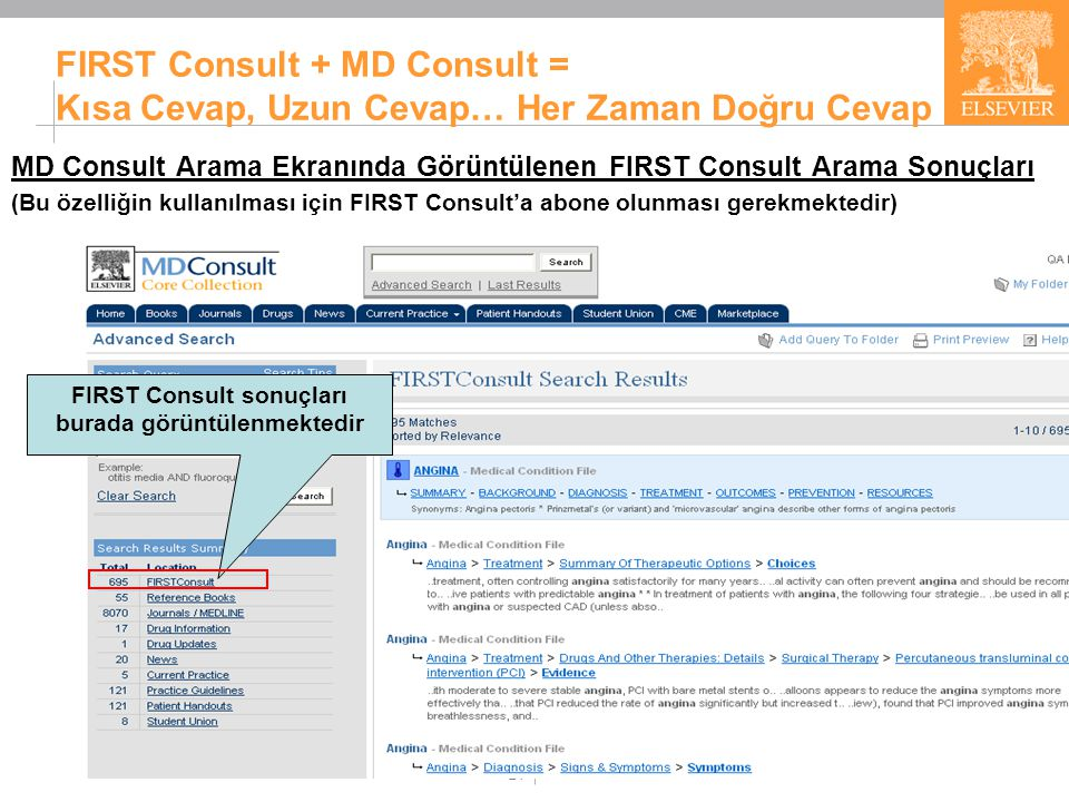 FIRST Consult Kullanan Tıp Okulları