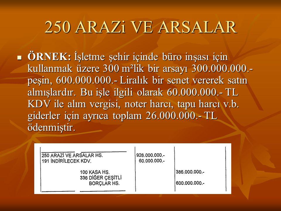 250 ARAZi VE ARSALAR