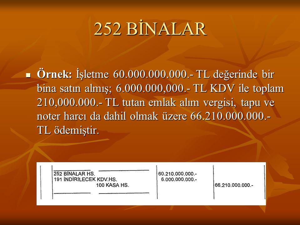 252 BİNALAR