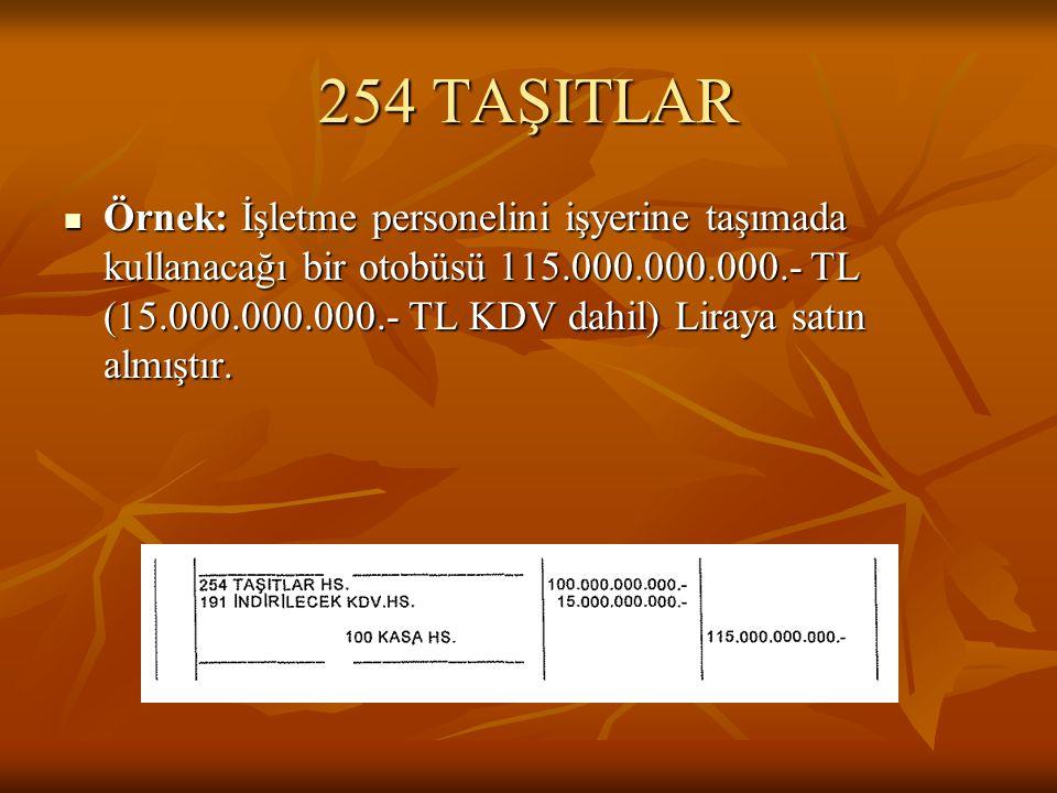 254 TAŞITLAR