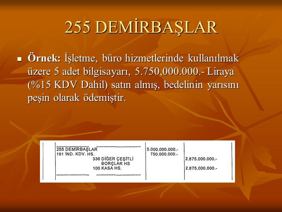 255 DEMİRBAŞLAR