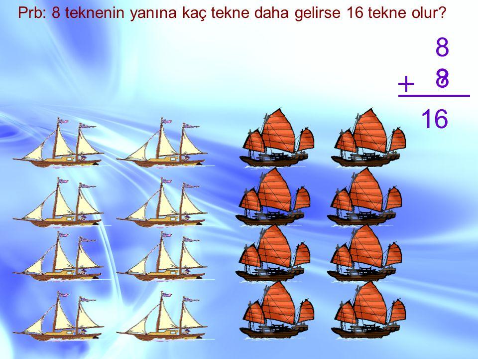 Prb: 8 teknenin yanına kaç tekne daha gelirse 16 tekne olur