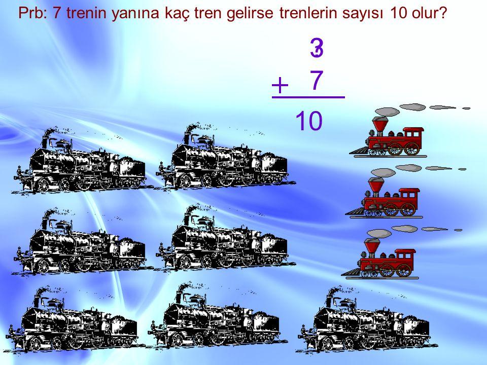 Prb: 7 trenin yanına kaç tren gelirse trenlerin sayısı 10 olur