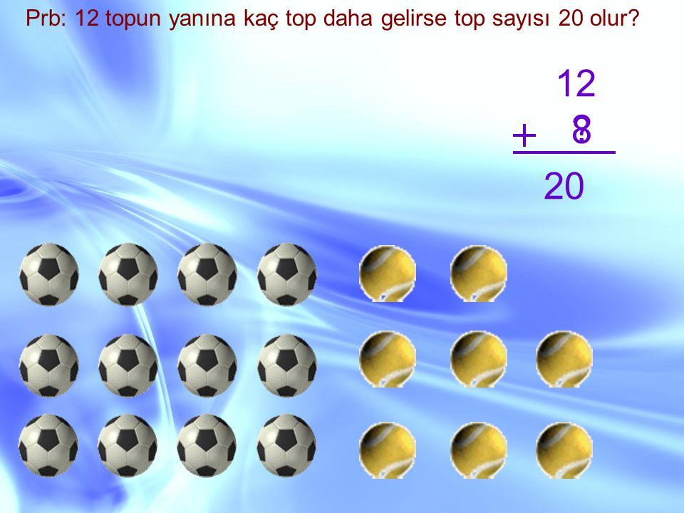Prb: 12 topun yanına kaç top daha gelirse top sayısı 20 olur