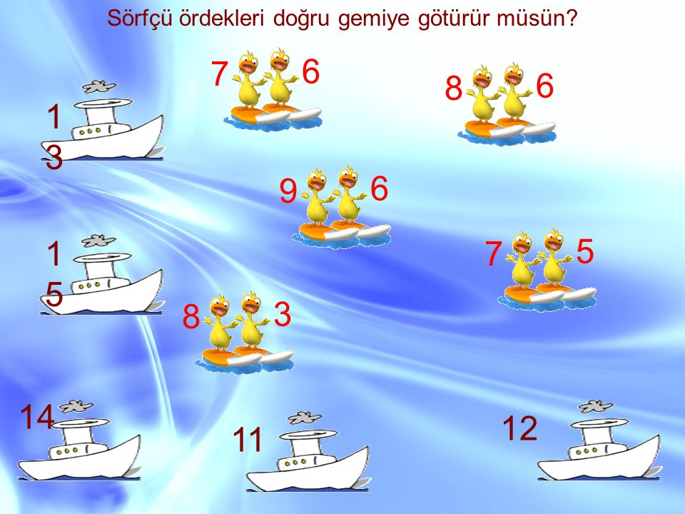 Sörfçü ördekleri doğru gemiye götürür müsün