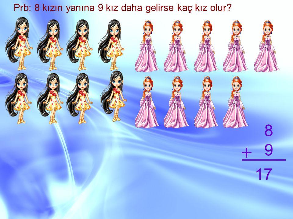 Prb: 8 kızın yanına 9 kız daha gelirse kaç kız olur