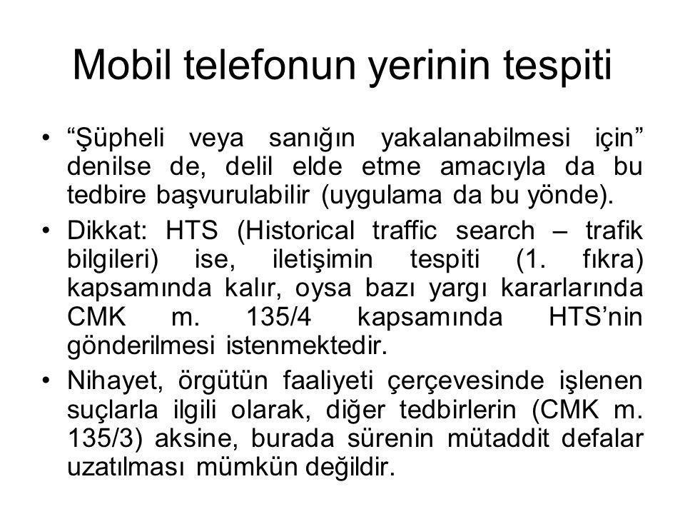 Mobil telefonun yerinin tespiti