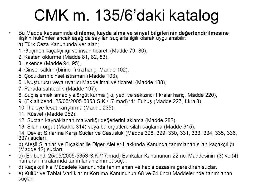 CMK m. 135/6'daki katalog