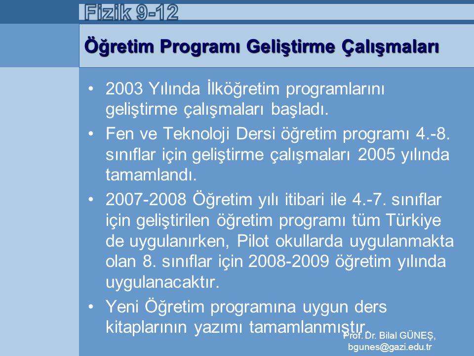 Öğretim Programı Geliştirme Çalışmaları