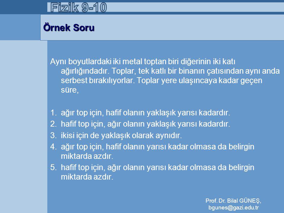 Prof. Dr. Bilal GÜNEŞ, bgunes@gazi.edu.tr