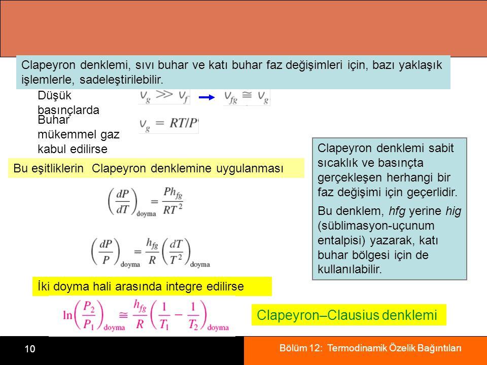 Clapeyron–Clausius denklemi