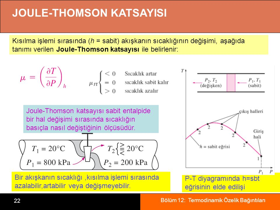 JOULE-THOMSON KATSAYISI