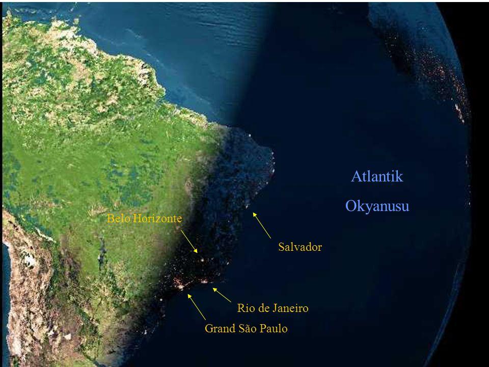 Atlantik Okyanusu Belo Horizonte Salvador Rio de Janeiro