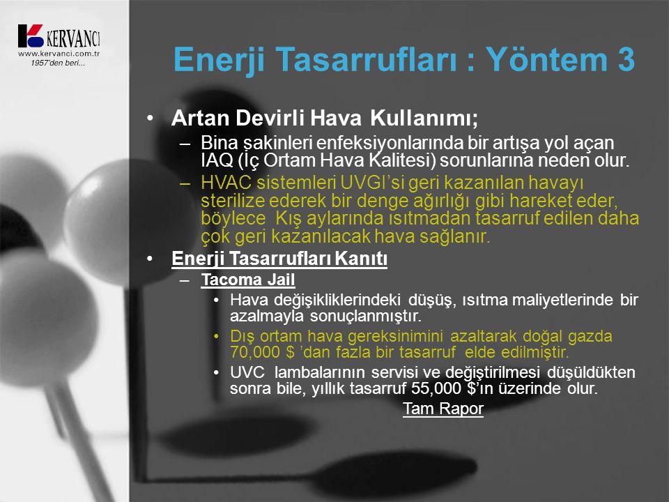 Enerji Tasarrufları : Yöntem 3
