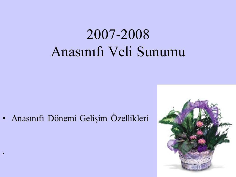 2007-2008 Anasınıfı Veli Sunumu